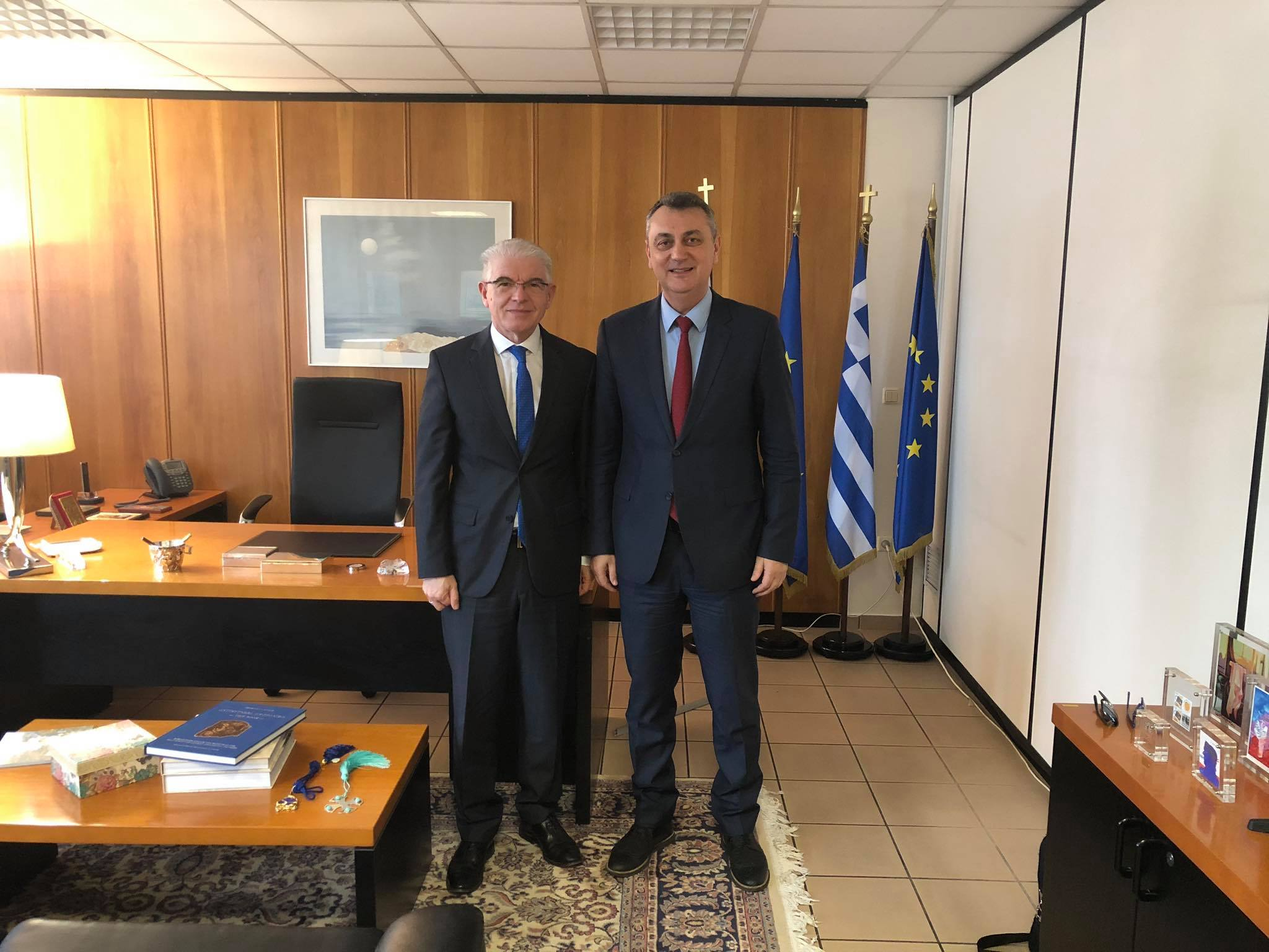 Ο Βουλευτής ΝΔ ν. Καρδίτσας Γιώργος Κωτσός συναντήθηκε με τον Πρόεδρο του ΕΛΓΑ Ανδρέα Λυκουρέντζο