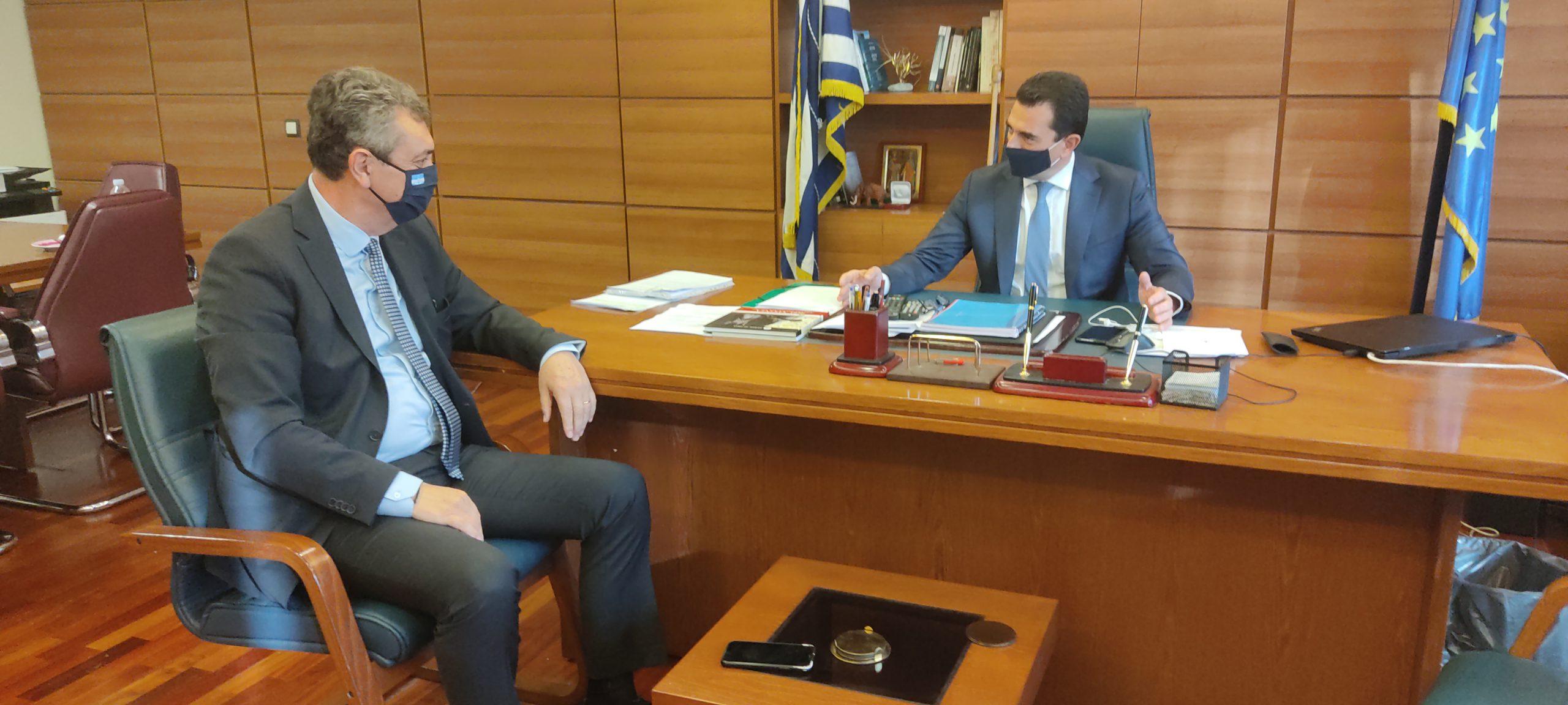 Συνάντηση με τον Υφυπουργό ΥΠΑΤ κ. Κώστα Σκρέκα είχε ο Γιώργος Κωτσός 04/12/20