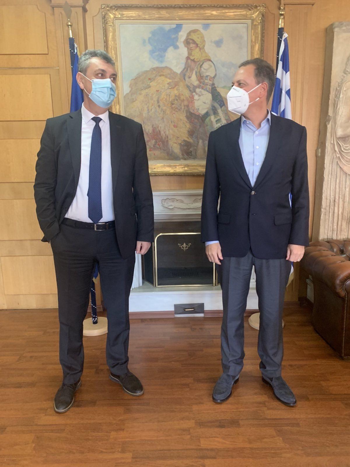Συνάντηση με τον Υπουργό ΥΠΑΤ Σπήλιο Λιβανό είχε ο Γιώργος Κωτσός 3/2/21